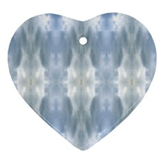 Ice Crystals Abstract Pattern Ornament (Heart)  by Costasonlineshop
