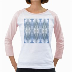 Ice Crystals Abstract Pattern Girly Raglans by Costasonlineshop
