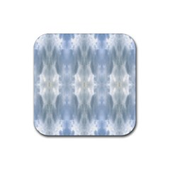 Ice Crystals Abstract Pattern Rubber Coaster (square)  by Costasonlineshop