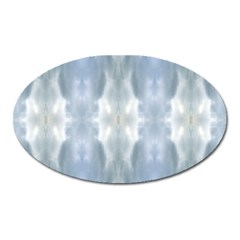 Ice Crystals Abstract Pattern Oval Magnet by Costasonlineshop