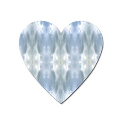 Ice Crystals Abstract Pattern Heart Magnet by Costasonlineshop