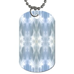 Ice Crystals Abstract Pattern Dog Tag (One Side) by Costasonlineshop