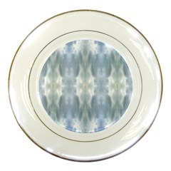 Ice Crystals Abstract Pattern Porcelain Plates