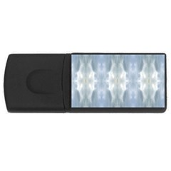Ice Crystals Abstract Pattern Usb Flash Drive Rectangular (4 Gb)
