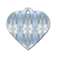 Ice Crystals Abstract Pattern Dog Tag Heart (two Sides) by Costasonlineshop