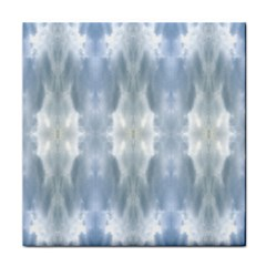 Ice Crystals Abstract Pattern Face Towel by Costasonlineshop