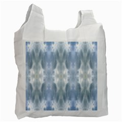 Ice Crystals Abstract Pattern Recycle Bag (One Side) by Costasonlineshop
