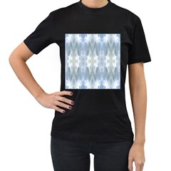 Ice Crystals Abstract Pattern Women s T Shirt (black) by Costasonlineshop