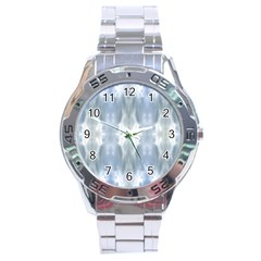 Ice Crystals Abstract Pattern Stainless Steel Men s Watch by Costasonlineshop