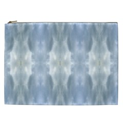 Ice Crystals Abstract Pattern Cosmetic Bag (xxl)  by Costasonlineshop
