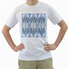 Ice Crystals Abstract Pattern Men s T Shirt (white)