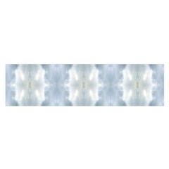 Ice Crystals Abstract Pattern Satin Scarf (oblong) by Costasonlineshop