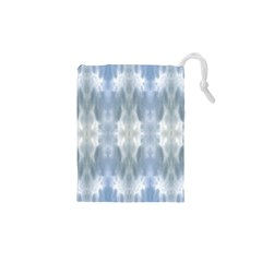Ice Crystals Abstract Pattern Drawstring Pouches (xs)  by Costasonlineshop
