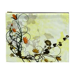 Wonderful Flowers With Leaves On Soft Background Cosmetic Bag (xl) by FantasyWorld7