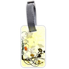 Wonderful Flowers With Leaves On Soft Background Luggage Tags (one Side)  by FantasyWorld7