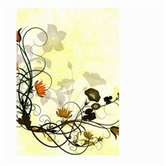 Wonderful Flowers With Leaves On Soft Background Large Garden Flag (two Sides)