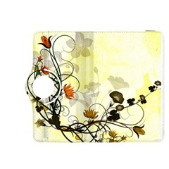Wonderful Flowers With Leaves On Soft Background Kindle Fire Hdx 8 9  Flip 360 Case by FantasyWorld7