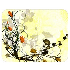 Wonderful Flowers With Leaves On Soft Background Double Sided Flano Blanket (medium)  by FantasyWorld7