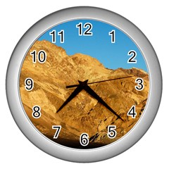 Death Valley Wall Clocks (silver)  by trendistuff