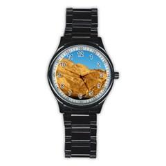 Death Valley Stainless Steel Round Watches by trendistuff