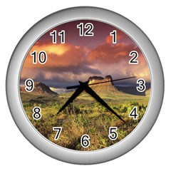 Chapada Diamantina 1 Wall Clocks (silver)  by trendistuff