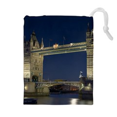Tower Bridge Drawstring Pouches (extra Large)