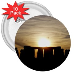 Sunset Stonehenge 3  Buttons (10 Pack)  by trendistuff