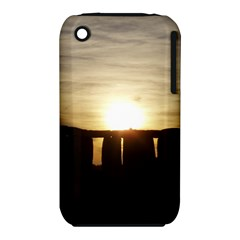 Sunset Stonehenge Apple Iphone 3g/3gs Hardshell Case (pc+silicone) by trendistuff