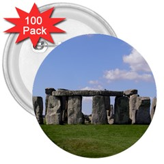 STONEHENGE 3  Buttons (100 pack)  by trendistuff
