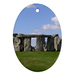 Stonehenge Oval Ornament (two Sides) by trendistuff