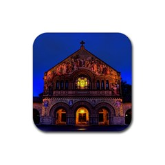 Stanford Chruch Rubber Square Coaster (4 Pack)  by trendistuff
