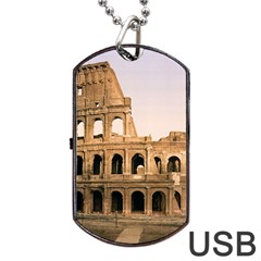 Rome Colosseum Dog Tag Usb Flash (two Sides)  by trendistuff