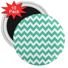 Chevron Pattern Gifts 3  Magnets (10 Pack)  by creativemom