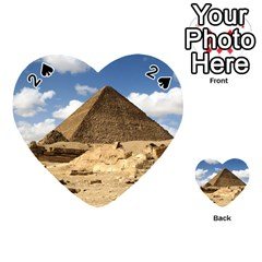 Pyramid Giza Playing Cards 54 (heart)  by trendistuff