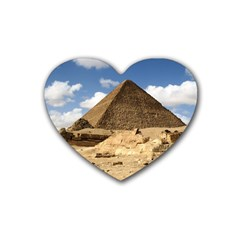 Pyramid Giza Heart Coaster (4 Pack)  by trendistuff