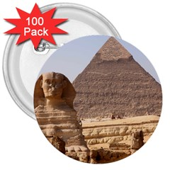 Pyramid Egypt 3  Buttons (100 Pack)  by trendistuff