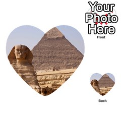 Pyramid Egypt Multi Purpose Cards (heart)  by trendistuff