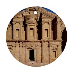 Petra Jordan Round Ornament (two Sides)  by trendistuff