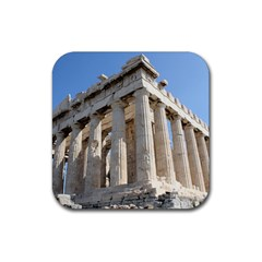 Parthenon Rubber Square Coaster (4 Pack)  by trendistuff