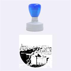 Notre Dame Rubber Round Stamps (medium) by trendistuff