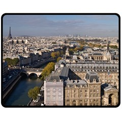 Notre Dame Double Sided Fleece Blanket (medium)  by trendistuff