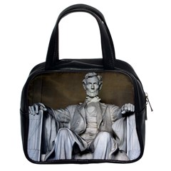 Lincoln Memorial Classic Handbags (2 Sides) by trendistuff