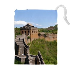 Great Wall Of China 3 Drawstring Pouches (extra Large)