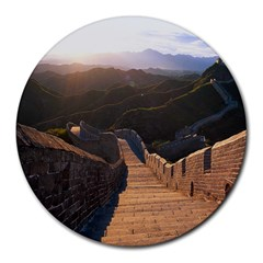 Great Wall Of China 2 Round Mousepads by trendistuff