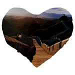 GREAT WALL OF CHINA 2 Large 19  Premium Heart Shape Cushions Back