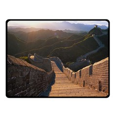 Great Wall Of China 2 Double Sided Fleece Blanket (small)  by trendistuff