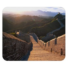 Great Wall Of China 2 Double Sided Flano Blanket (small)  by trendistuff