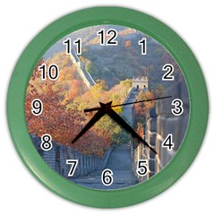 Great Wall Of China 1 Color Wall Clocks by trendistuff