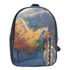 Great Wall Of China 1 School Bags(large)  by trendistuff
