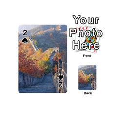 Great Wall Of China 1 Playing Cards 54 (mini)  by trendistuff